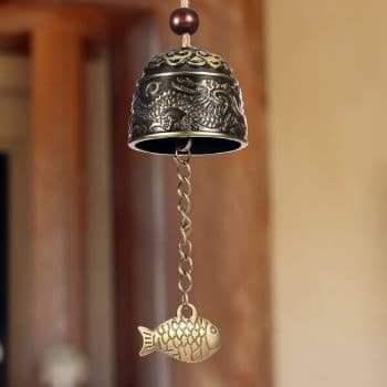 Chuangdi 2 Pieces Fengshui Bell Vintage Dragon Bell Fengshui Wind Chimes