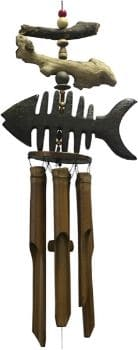 Cohasset Dark Stained Wind Chime with Wood Finish