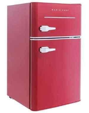 Magic Chef Retro Mini Refrigerator 3.2 cu. ft. 2-Door Fridge
