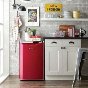 Premium Mini Fridge Danby DAR044A6PDB Contemporary Classic Compact Refrigerator