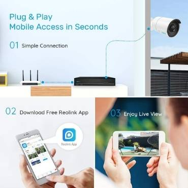 Reolink 5MP PoE Home Security Camera System