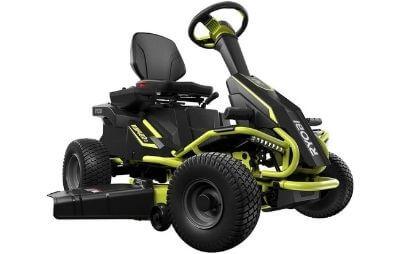 Ryobi Zero-Turn Rear Electric Engine Riding Lawn Mower for Hills